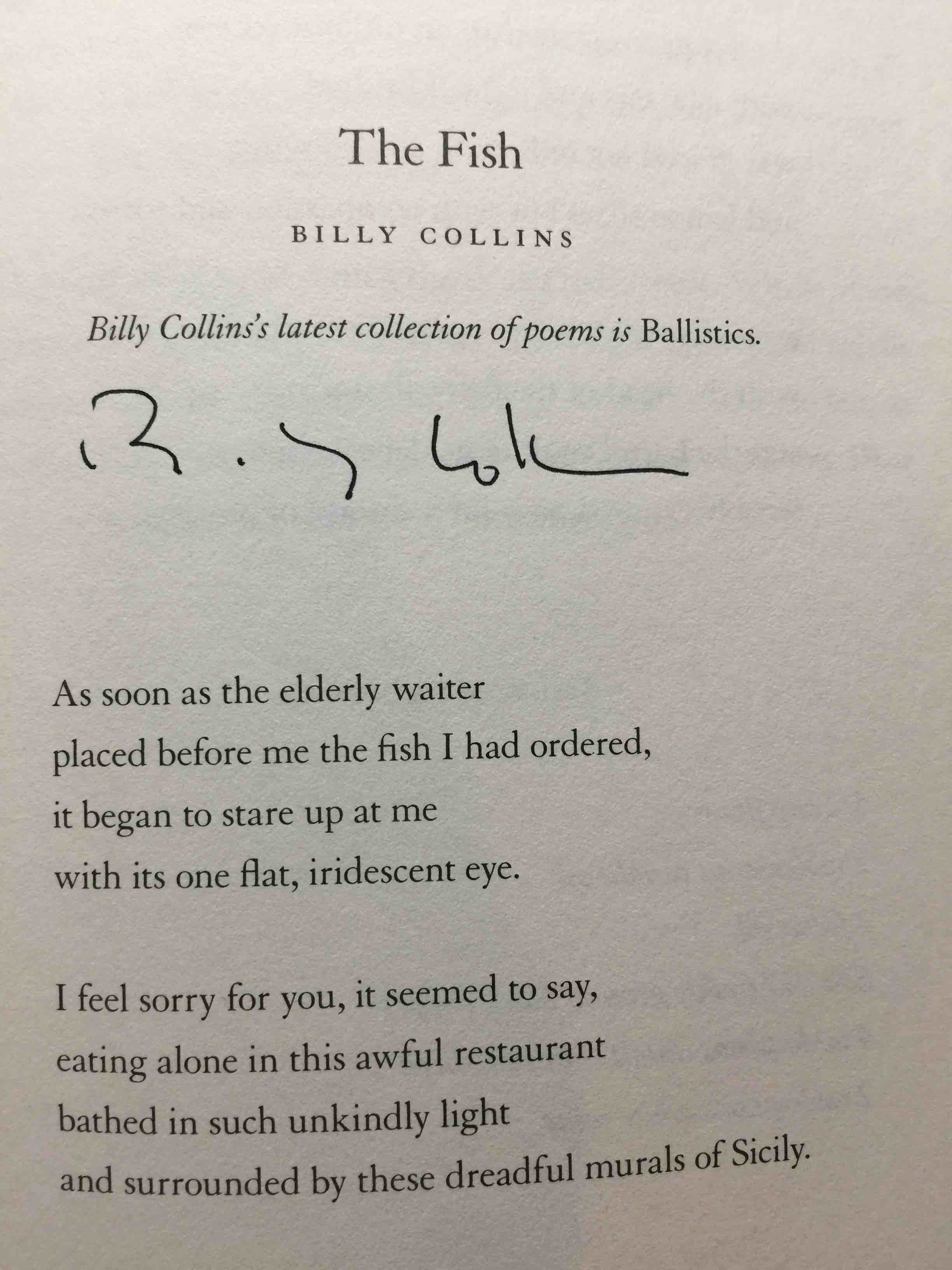 HESSER, AMANDA, EDITOR. BILLY COLLINS AND TOM PERROTTA, SIGNED. - EAT, MEMORY: Great Writers at the Table: A Collection of Essays from the New York Times.