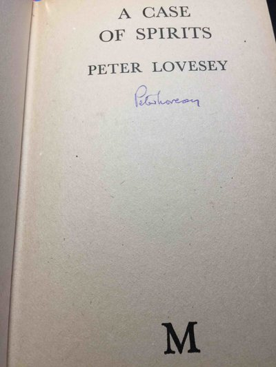 A CASE OF SPIRITS. by Lovesey, Peter