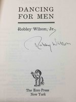 DANCING FOR MEN. by Wilson, Robley.