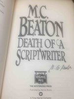 DEATH OF A SCRIPTWRITER. by Beaton, M. C. (pseudonym of Marion Chesney, 1936-2019)