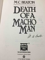 DEATH OF A MACHO MAN. by Beaton, M. C. (pseudonym of Marion Chesney, 1936-2019)