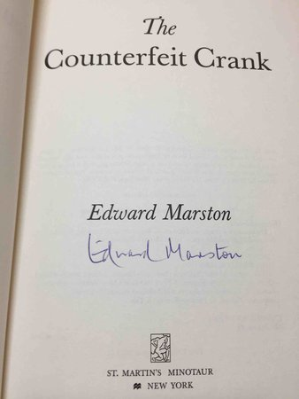 THE COUNTERFEIT CRANK. by Marston, Edward.(pseudonym of Keith Miles)
