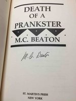 DEATH OF A PRANKSTER. by Beaton, M. C. (pseudonym of Marion Chesney, 1936-2019)