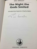 THE NIGHT THE GODS SMILED: Introducing Inspector Charlie Salter. by Wright, Eric