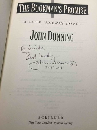 THE BOOKMAN'S PROMISE. by Dunning, John.