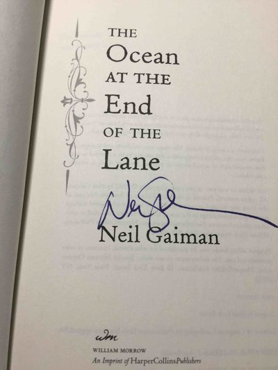 THE OCEAN AT THE END OF THE LANE. by Gaiman, Neil.