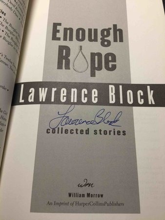 ENOUGH ROPE by Block, Lawrence.