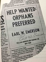 HELP WANTED: ORPHANS PREFERRED. by Emerson, Earl.