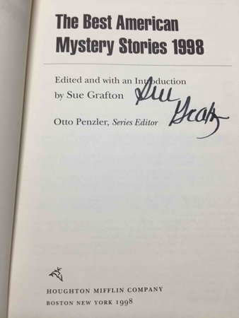 THE BEST AMERICAN MYSTERY STORIES 1998. by [Anthology, signed] Grafton, Sue, editor; Penzler, Otto, series editor. Joyce Carol Oates and Walter Mosley, signed.