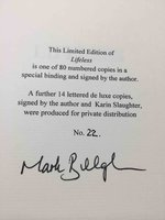 LIFELESS. by BiIllingham, Mark..Appreciation by Karin Slaughter.