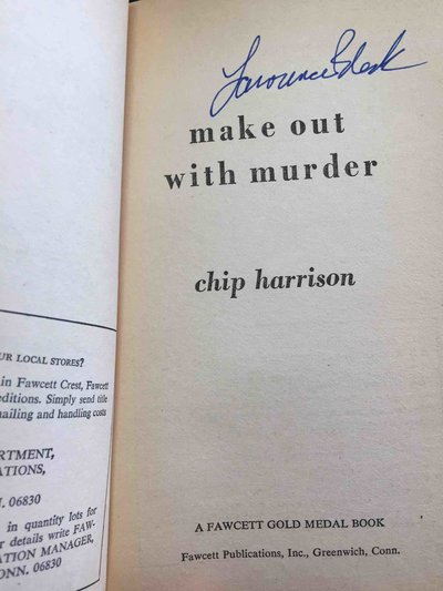 MAKE OUT WITH MURDER. by [Block, Lawrence] Harrison, Chip.