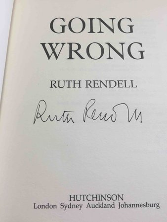 GOING WRONG. by Rendell, Ruth