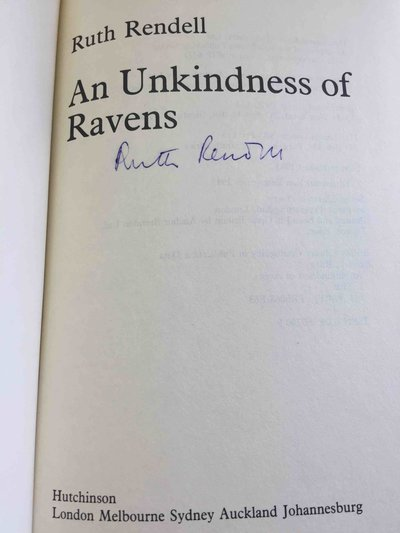 AN UNKINDNESS OF RAVENS by Rendell, Ruth