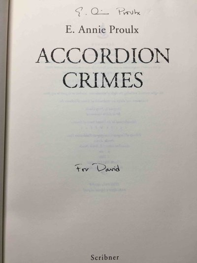 ACCORDION CRIMES. by Proulx. Annie.