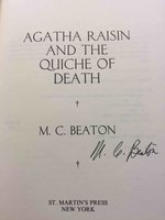 AGATHA RAISIN AND THE QUICHE OF DEATH. by Beaton, M. C. (pseudonym of Marion Chesney)
