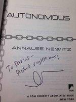 AUTONOMOUS: A Novel by Newitz, Annalee