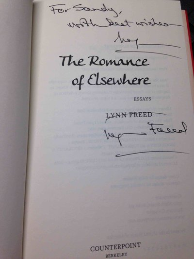 THE ROMANCE OF ELSEWHERE. by Freed, Lynn.