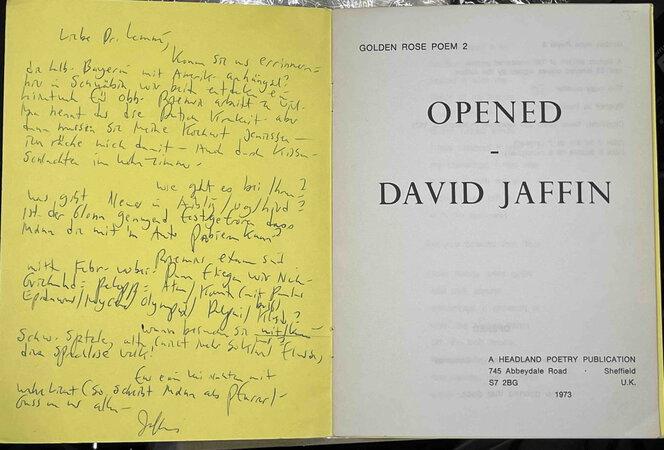 OPENED: Golden Rose Poem 2. by Jaffin, David.