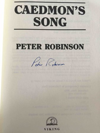 CAEDMON'S SONG. by Robinson, Peter.