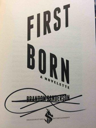 FIRSTBORN & DEFENDING ELYSIUM: Novellas.  by Sanderson, Brandon.