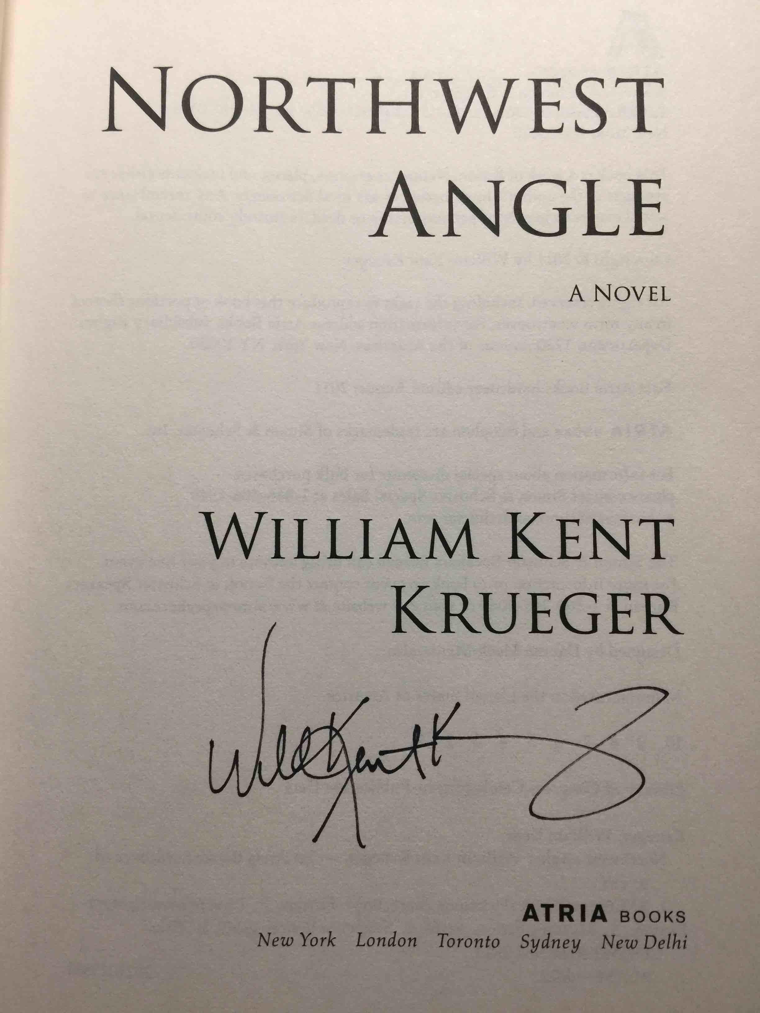 KRUEGER, WILLIAM KENT. - NORTHWEST ANGLE.
