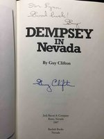 DEMPSEY IN NEVADA. by [Dempsey, Jack] Clifton, Guy