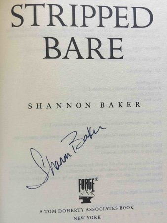 STRIPPED BARE. by Baker, Shannon.