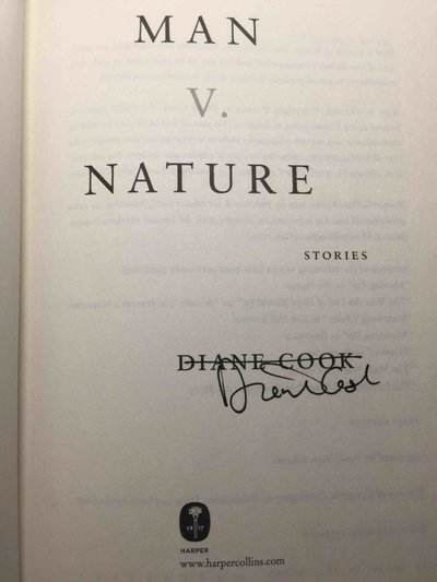 MAN V. NATURE: Stories. by Cook, Diane.