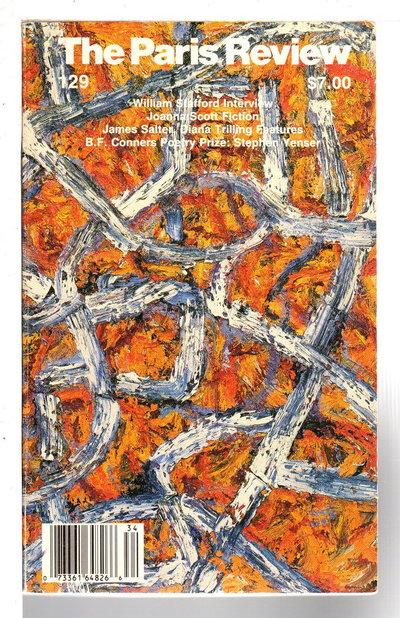 THE PARIS REVIEW:  Volume 35, No.129; Winter, 1993 by Plimpton, George; Peter Matthiessen et als, editors. [Billy Collins, signed; William Stafford, Allen Ginsberg, Joanne Scott, contributors.]