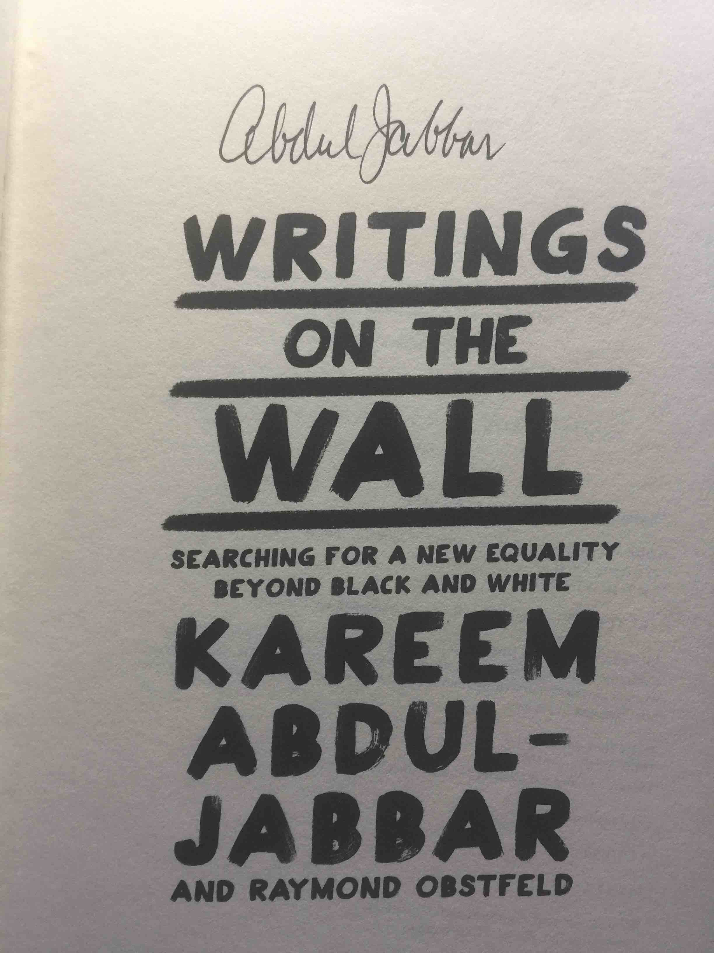 WRITINGS ON THE WALL: Searching for a New Equality Beyond… - bookfever.com