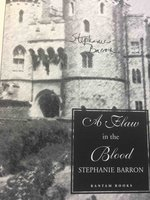 A FLAW IN THE BLOOD. by Barron, Stephanie (pseudonym of Francine Mathews.)