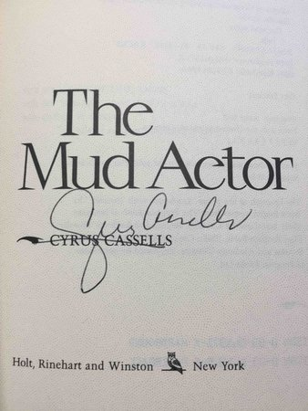 THE MUD ACTOR.  by Cassells, Cyrus.
