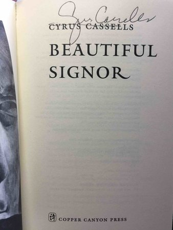 BEAUTIFUL SIGNOR. by Cassells, Cyrus.