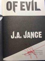 HAND OF EVIL: A Novel of Suspense. by Jance, J. A.