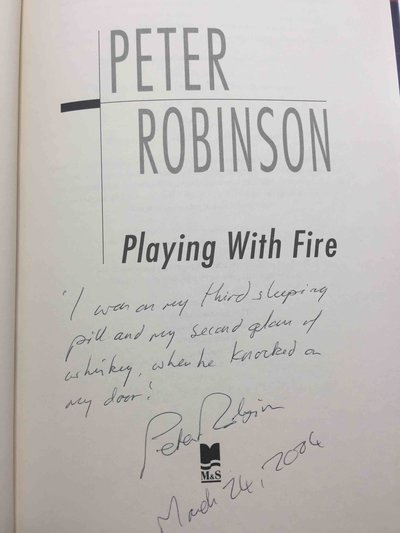 PLAYING WITH FIRE. by Robinson, Peter.