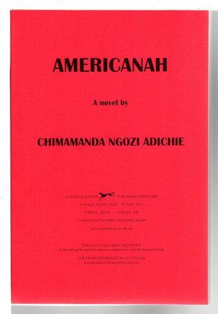 AMERICANAH. by Adichie, Chimamanda Ngozi.