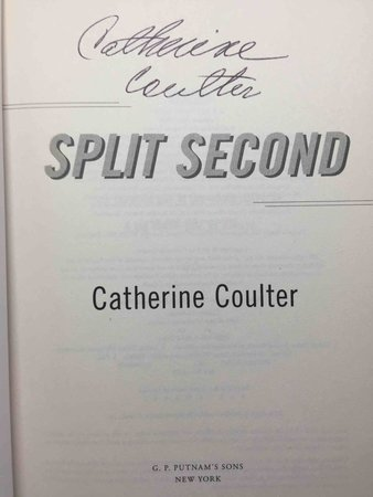 SPLIT SECOND. by Coulter, Catherine.