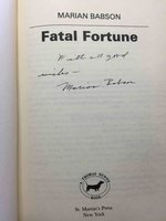 FATAL FORTUNE. by Babson, Marian  (pseudonym of Ruth Stenstreem, 1929-2017) .