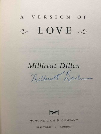 A VERSION OF LOVE. by Dillon, Millicent.