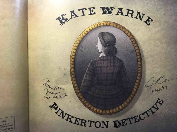 KATE WARNE, PINKERTON DETECTIVE. by Moss, Marissa; April Chu, illustrator.