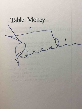 TABLE MONEY. by Breslin, Jimmy.