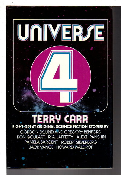 UNIVERSE 4. by [Anthology signed] Carr, Terry, editor; Gregory Benford, signed.