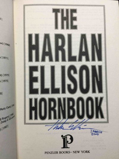 THE HARLAN ELLISON HORNBOOK. by Ellison, Harlan; Foreword by Robert Crais.