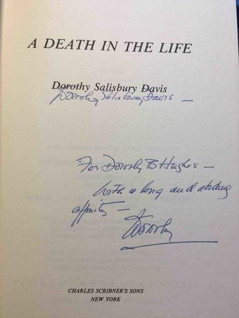 A DEATH IN THE LIFE. by Davis, Dorothy Salisbury.