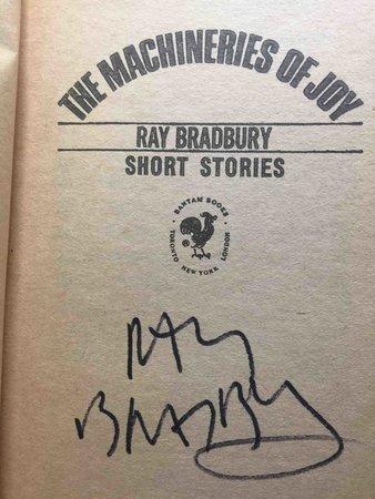 THE MACHINERIES OF JOY: Short Stories. by Bradbury, Ray.