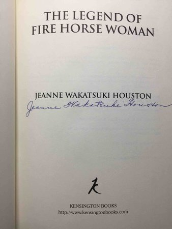 THE LEGEND OF THE FIRE HORSE WOMAN by Houston, Jeanne Wakatsuki.