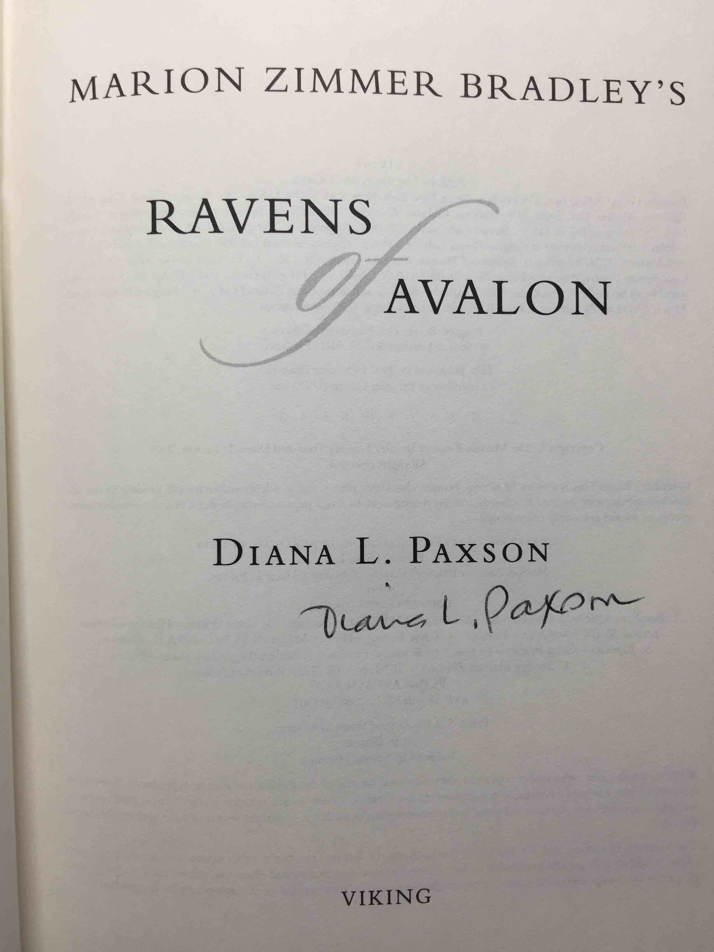 marion zimmer bradley s ravens of avalon paxson diana l