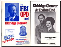 LOT of 3 pieces related to Cleaver's defense fund: 2 brochures and a business card. by Cleaver, Eldridge
