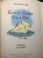 CURIOUS GEORGE FLIES A KITE. by Rey,  H. A. and Margret Rey.