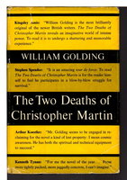 THE TWO DEATHS OF CHRISTOPHER MARTIN by Golding, William